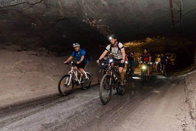 Stollenbiken im Bergwerk Merkers 3