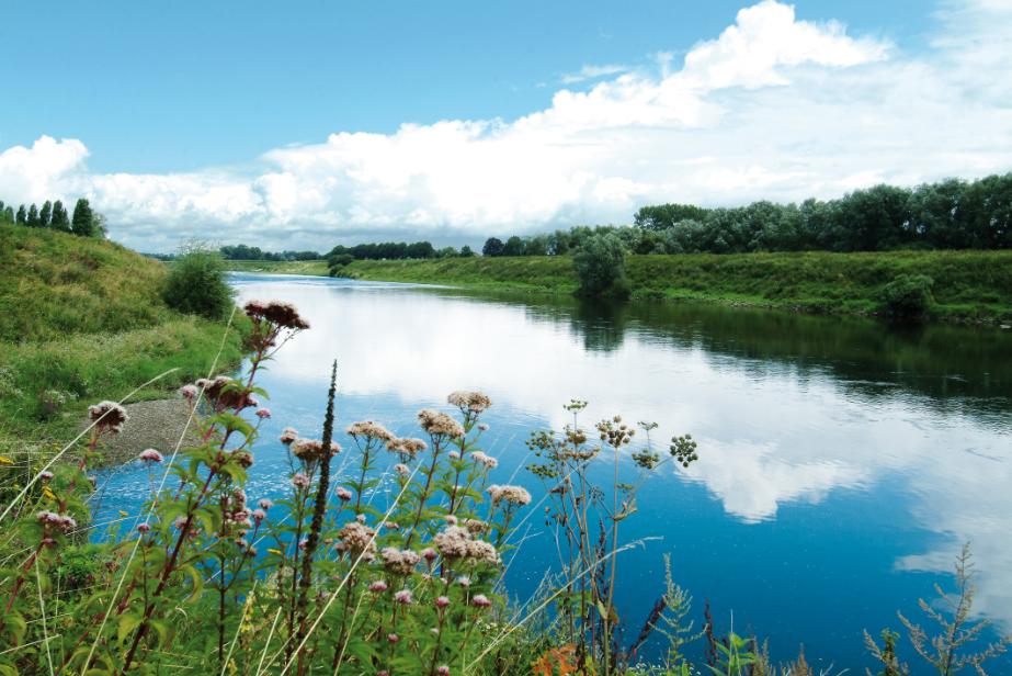 Panorama-Anblick der Maas © Tourismusbüro Limburg