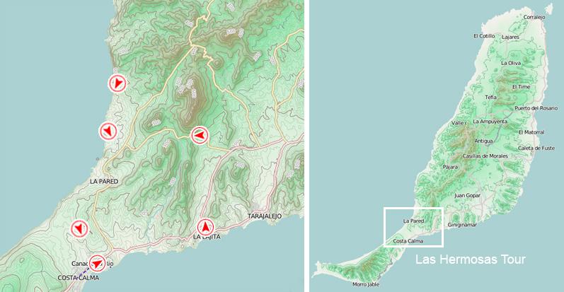 Verlauf der Las Hermosas Tour © Volcano Bike S.L. Fuerteventura