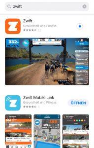 Zwift im App Store