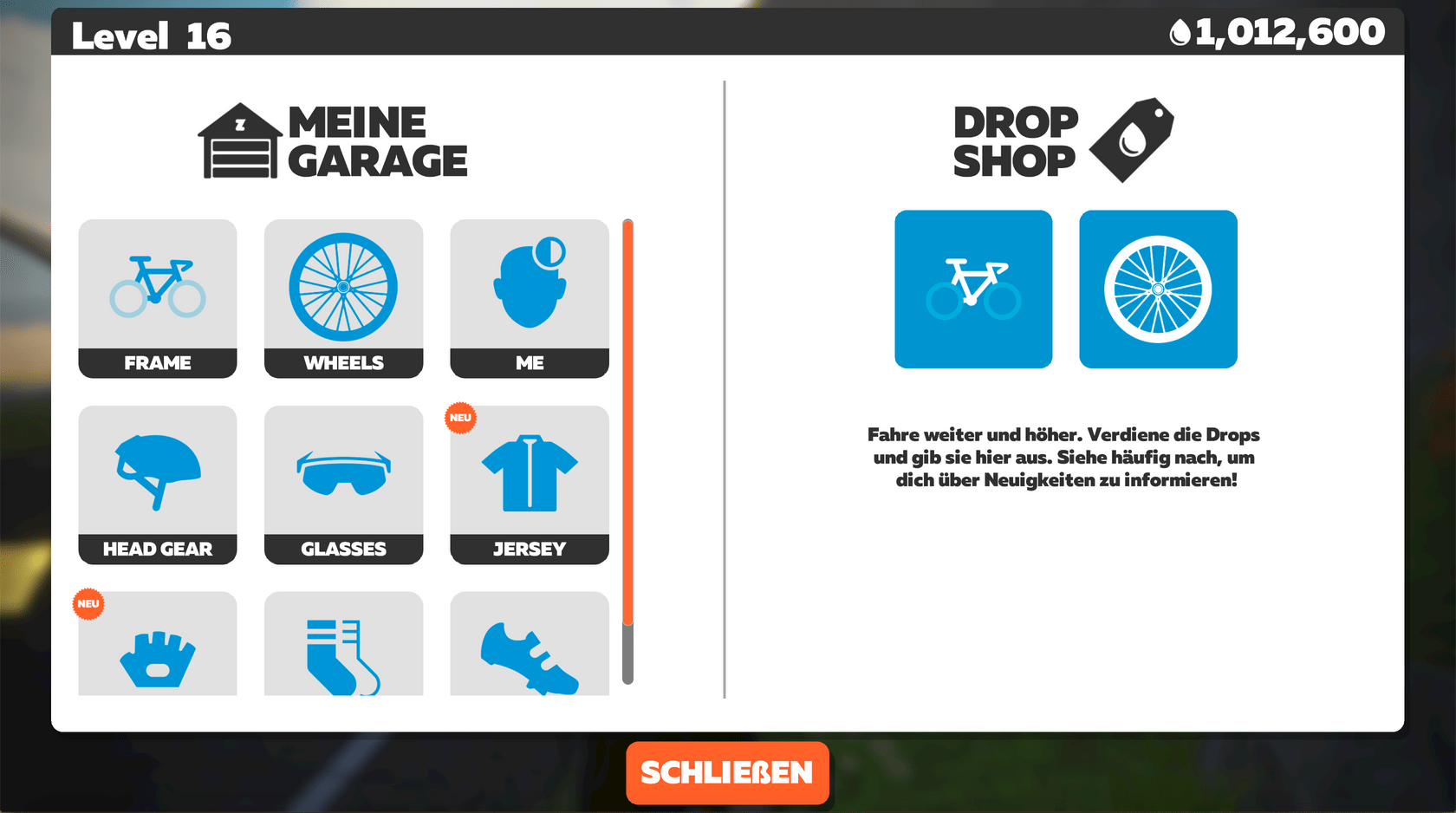 Links die Garage, Rechts der Drop Shop