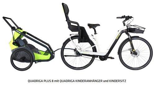 Kettler QuadrigaPlus8 Kinderanhänger Kindersitz 2020