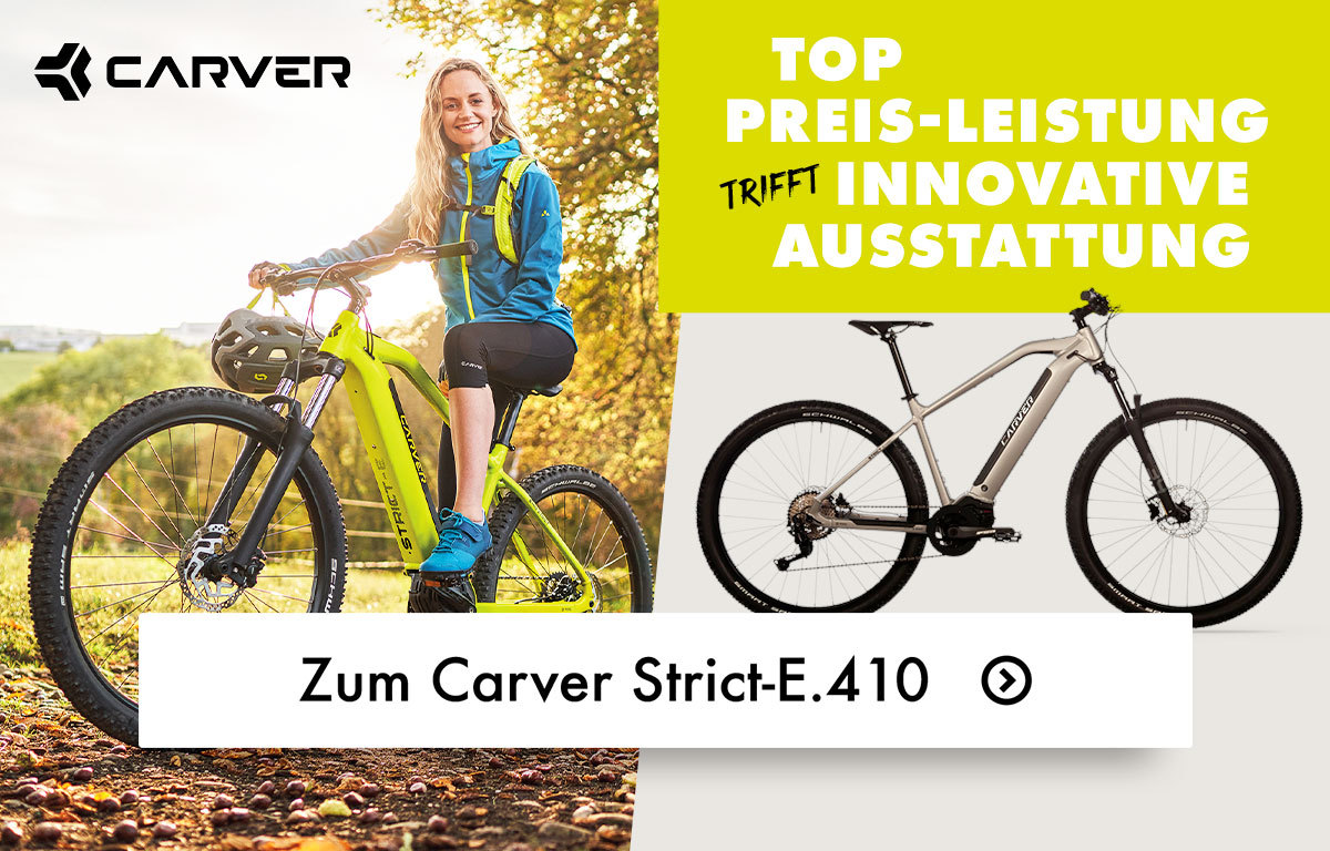 Gewinne ein Carver Strict E.410 E-Bike!