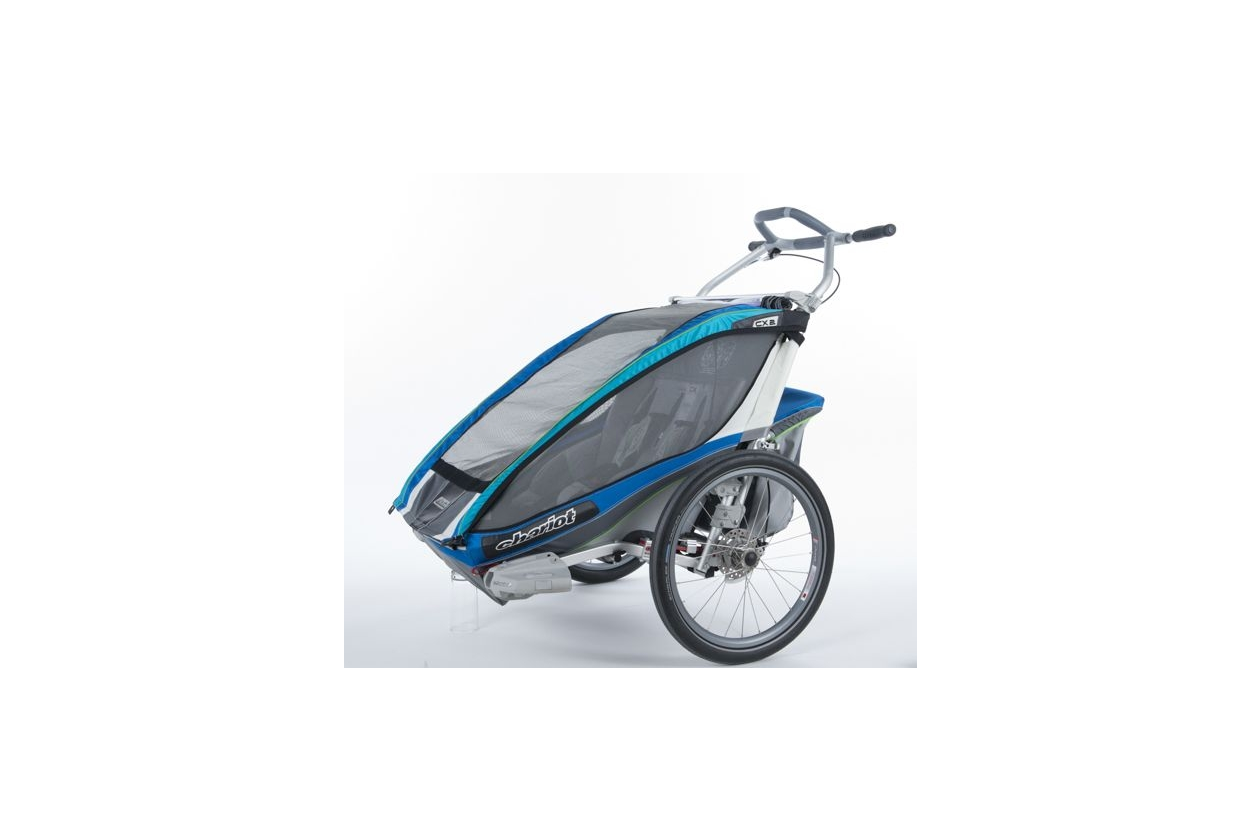 Thule Chariot Cx 2 Blau Inkl Fahrradset Kinderanh Nger
