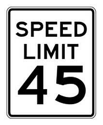 45 km h Speed Limit