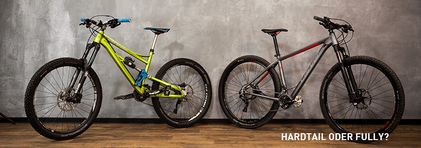 MTB Beratung: Hardtail oder Fully?