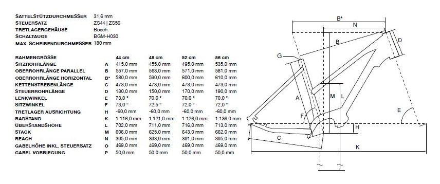 Bergamont E-Horizon Edition Lady Grün Modell 2020| Rahmengröße: 48 CM
