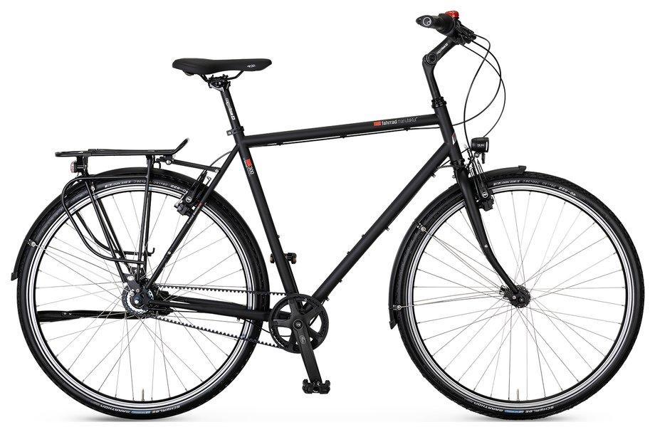 Fahrräder/citybike: VSF-fahrradmanufaktur  T-300 Nabe HS33 Gates Schwarz Modell 2021