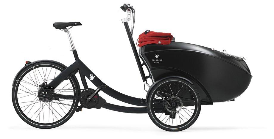 Fahrräder/lastenfahrräder: Triobike  Mono E Mid Drive - Gates Schwarz Modell 2021