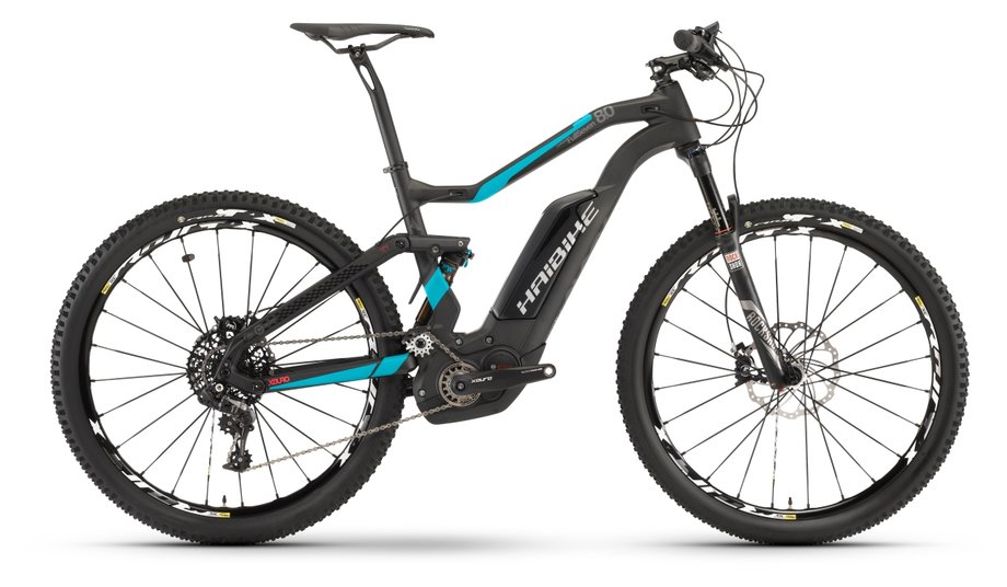E-MTB Fully E-Mountenbike Haibike Xduro Fullseven Carbon 80 Schwarz*