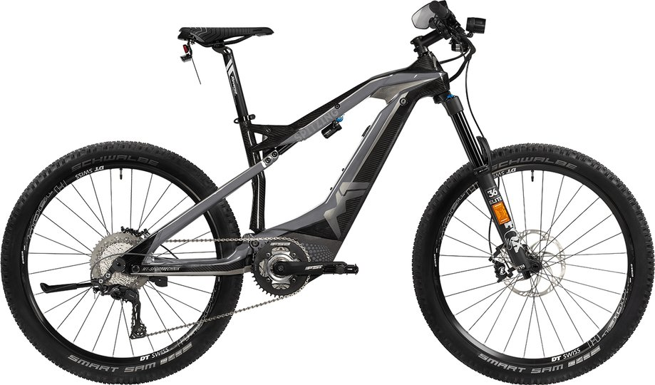 E-Bikes/e-bike: M1-Sporttechnik  Spitzing Evolution S-Pedelec Grau Modell 2020