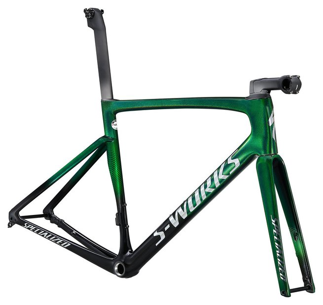 fahrradrahmen/Rahmen: Specialized  Tarmac SL7 S-Works Rahmenset Grün Modell 2021