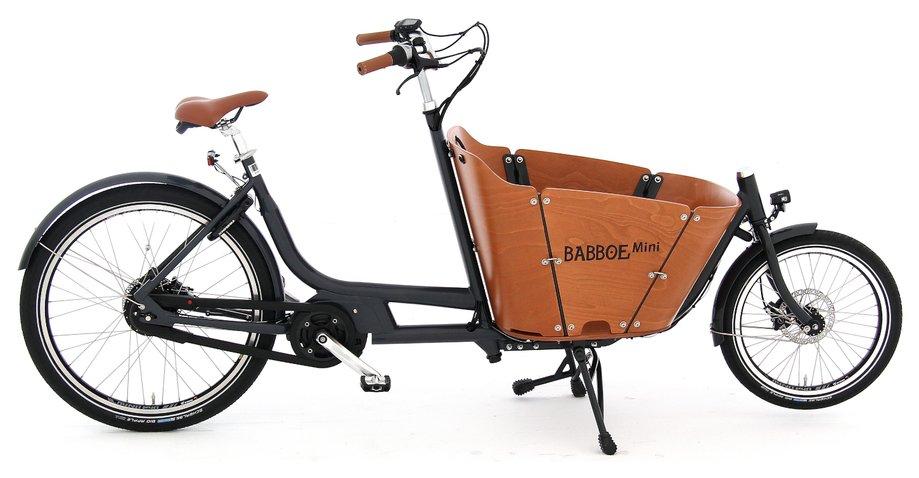 Babboe Mini Mountain Grau Modell 2020 für Kinder, Link führt zur Produktseite bei Fahrrad XXL