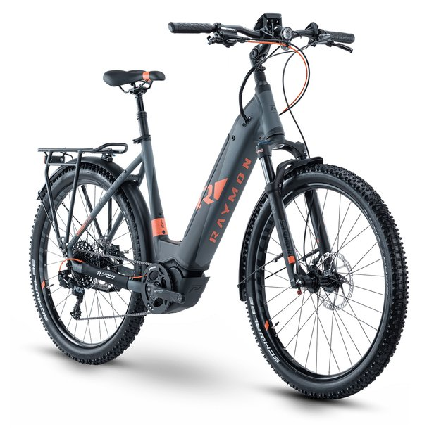 E-Bikes/e-bike: Raymon Raymon CrossRay E 7.5 Street Schwarz Modell 2020