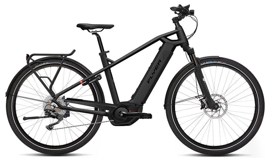 E-Bikes/e-bike: Flyer  Upstreet4 7.10 - Kiox Schwarz Modell 2019