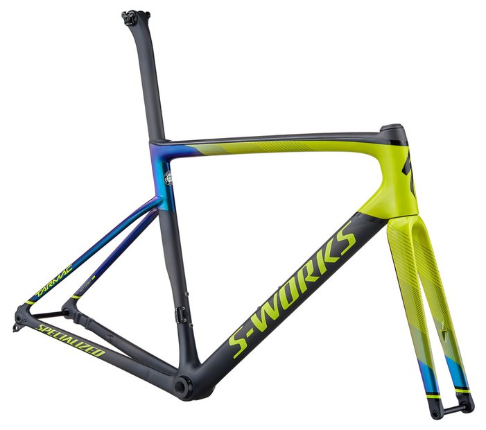fahrradrahmen/Rahmen: Specialized  Tarmac SL6 S-Works Disc Rahmenset Grün Modell 2020