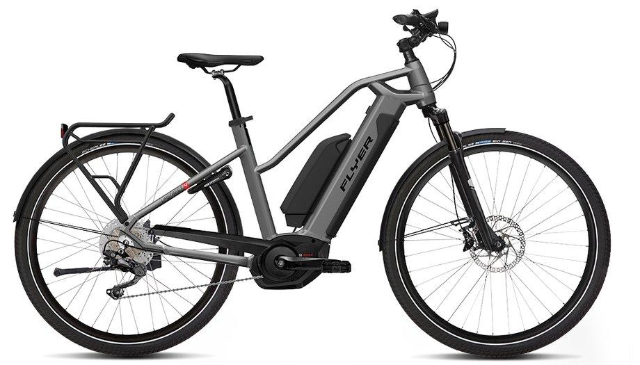 E-Bikes/e-bike: Flyer  Upstreet4 7.70 Silber Modell 2019