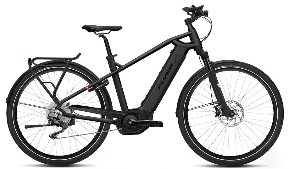 E-Bikes/e-bike: Flyer  Upstreet4 7.70 Schwarz Modell 2019