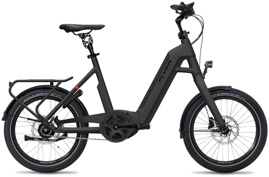 E-Bikes/e-bike: Flyer  Upstreet1 5.00 - Purion Schwarz Modell 2020
