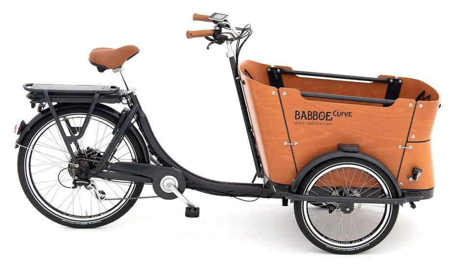 Fahrräder/lastenfahrräder: Babboe  Curve-E Disc Grau Modell 2021