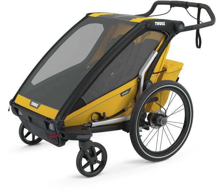 fahrradanhänger/fahrradanhänger: Thule  Chariot Sport 2 Gelb Modell 2021