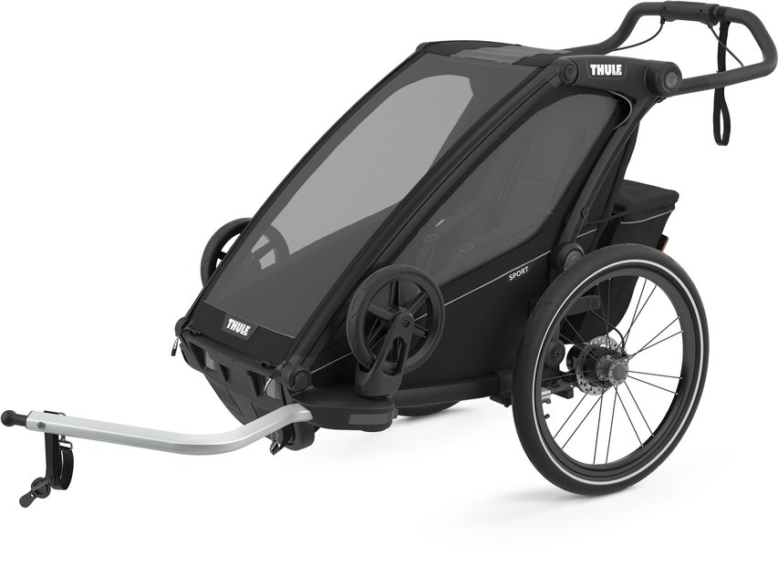 fahrradanhänger/fahrradanhänger: Thule  Chariot Sport 1 Schwarz Modell 2021
