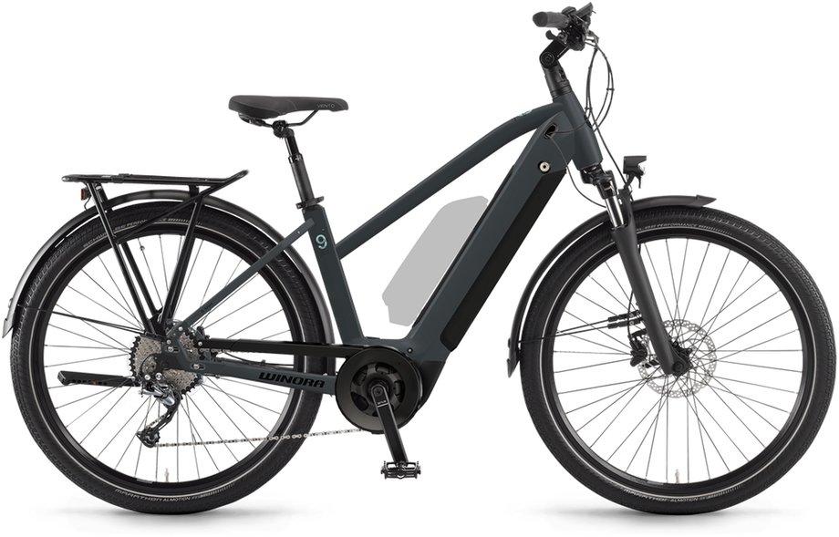 E-Bikes/e-bike: Winora  Sinus 9 Grau Modell 2021