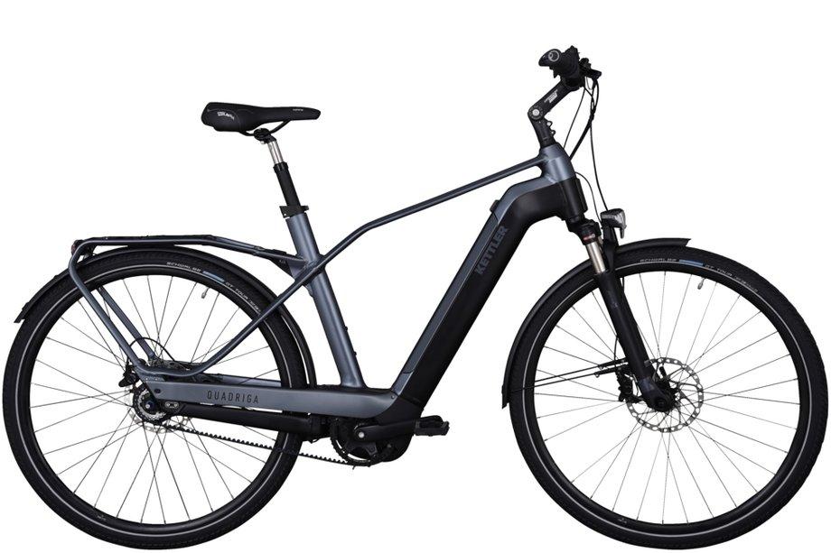 E-Bikes/e-bike: Kettler  Quadriga Comp 5 Belt FL Disc Grau Modell 2021