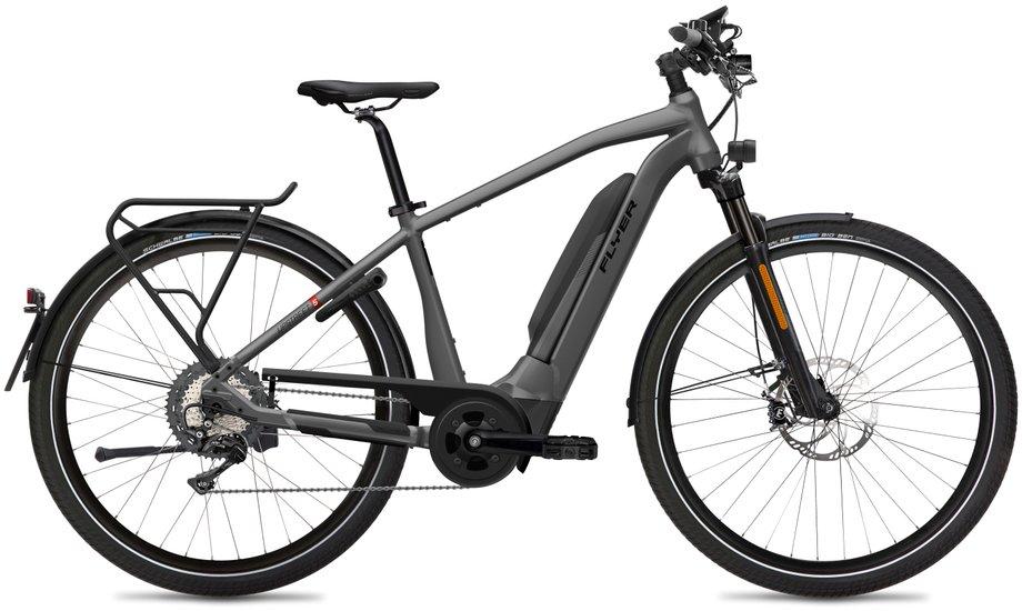E-Bikes/e-bike: Flyer  Upstreet5 7.70 HS EU - D1 Grau Modell 2020