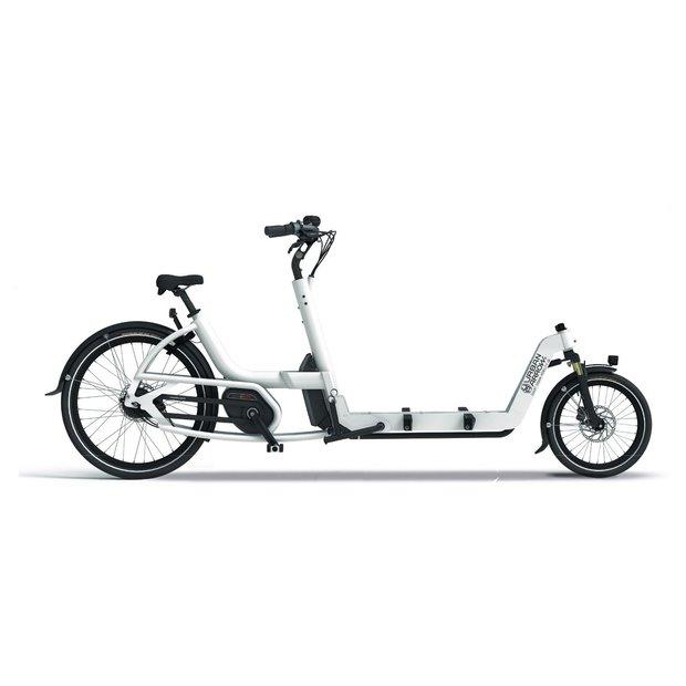 Fahrräder/lastenfahrräder: Urban Arrow  Cargo L Flatbed CX Disc Zee Weiß Modell 2020