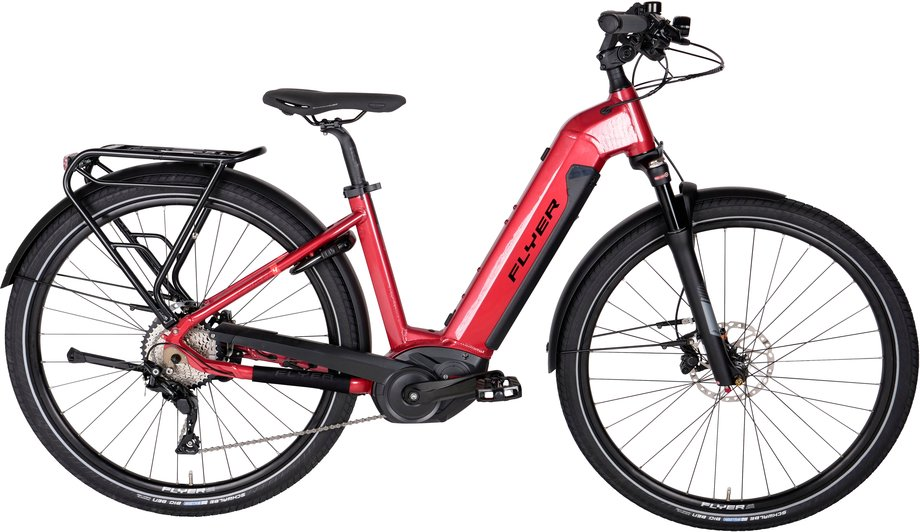 E-Bikes/e-bike: Flyer  Upstreet4 7.10 LE Rot Modell 2020