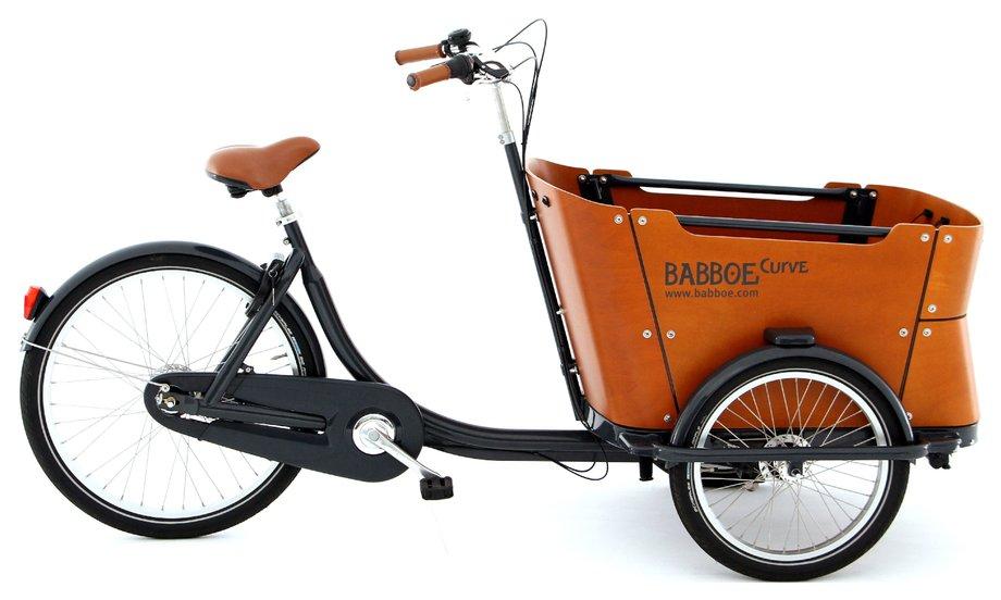 Fahrräder/lastenfahrräder: Babboe  Curve Holz Schwarz Modell 2020