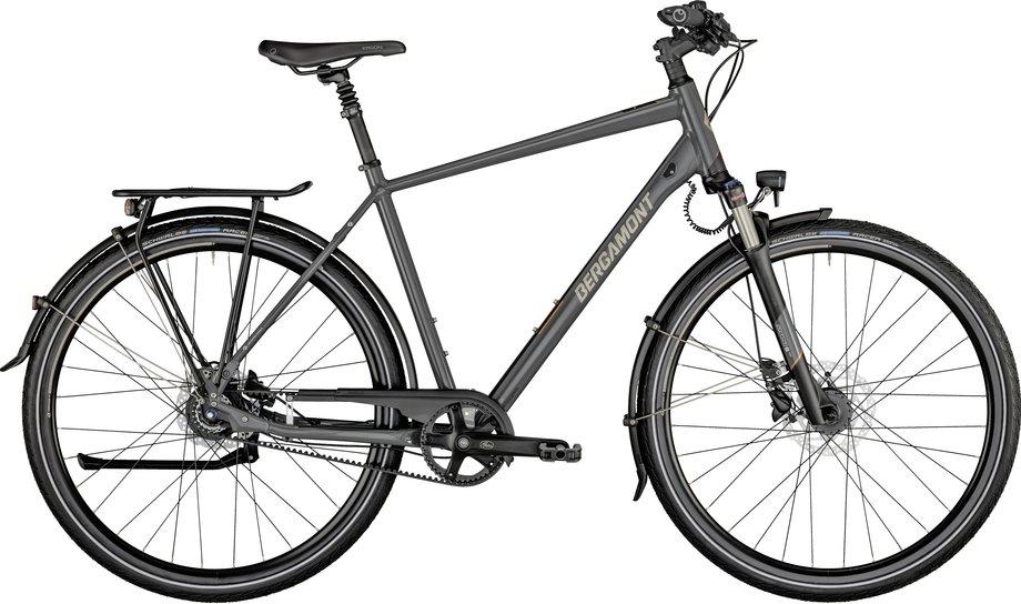 Fahrräder/citybike: Bergamont Bergamont Horizon N8 Belt Gent Grau Modell 2021