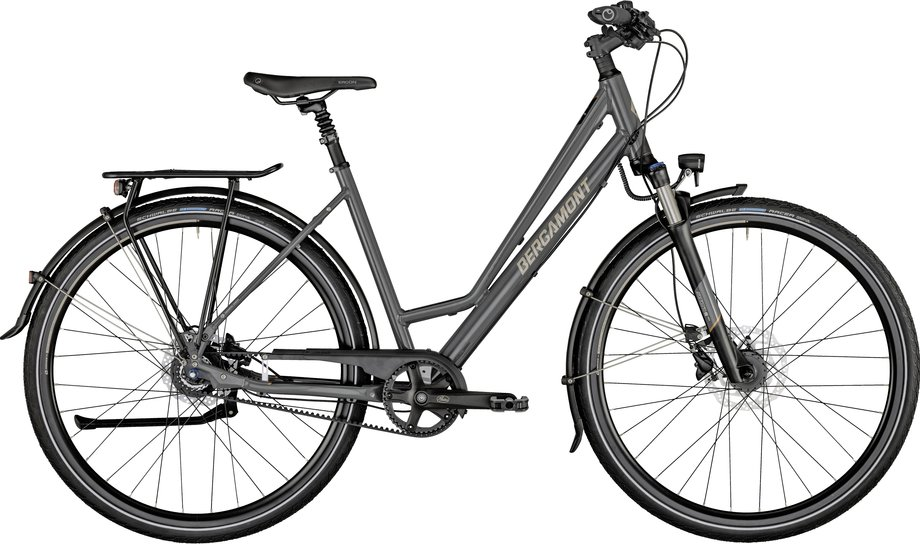 Fahrräder/citybike: Bergamont Bergamont Horizon N8 Belt Amsterdam Grau Modell 2021