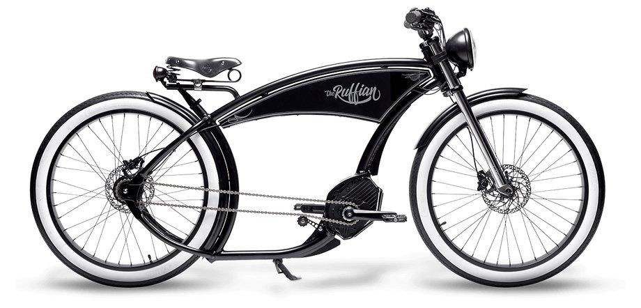 E-Bikes/e-bike: Ruff Cycles  The Ruffian - Gates - Satteltasche  Schwarz Modell 2019