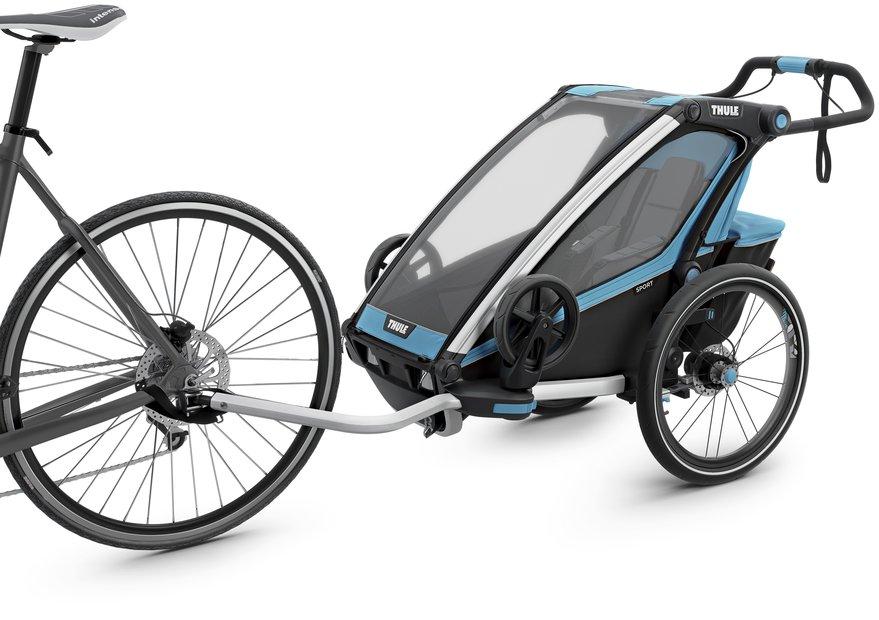 fahrradanhänger/fahrradanhänger: Thule  Chariot Sport 1 Fahrradanhänger Blau Modell 2020