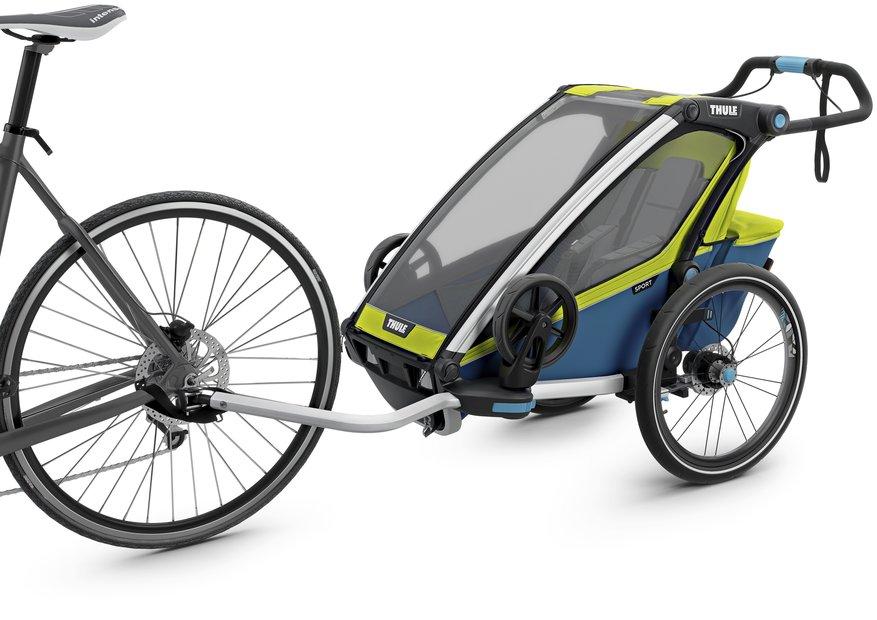 Thule Chariot Sport 1 Fahrradanhänger Grün Modell 2018 für Kinder, Link führt zur Produktseite bei Fahrrad XXL