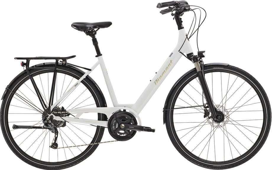 Fahrräder/trekkingräder: Diamant  Ubari Super Deluxe Weiß Modell 2021
