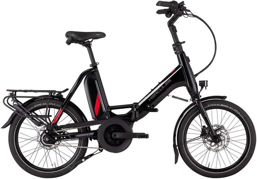 E-Bikes/e-bike: Hercules  Rob Fold F8 Schwarz Modell 2021