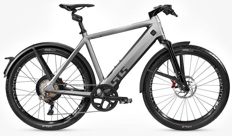 E-Bikes/e-bike: Stromer  ST5 OGT Grau Modell 2021