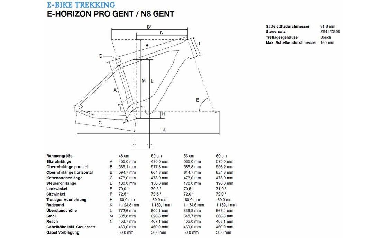 Bergamont E-Horizon Pro - 500 Wh - 2019 - 28 Zoll - Diamant on