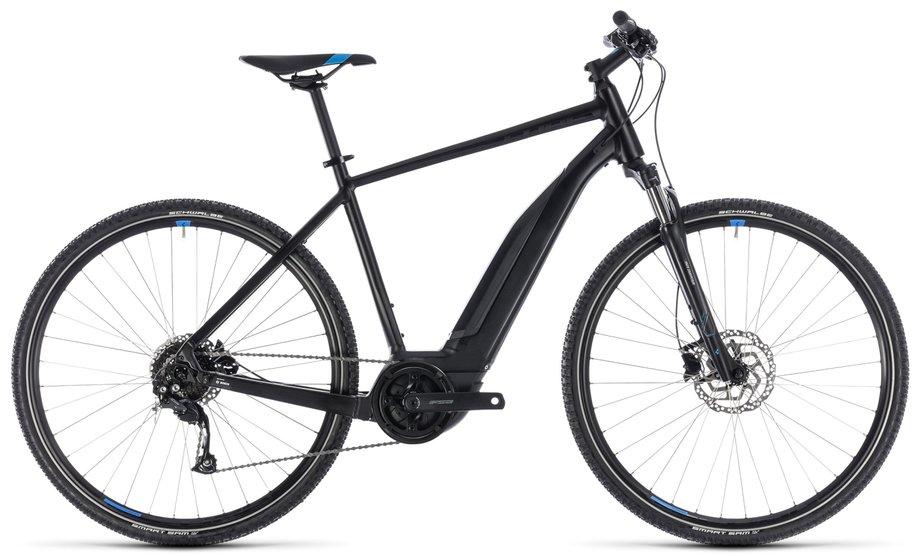 cube cross hybrid one 500 e bike schwarz modell 2018. Black Bedroom Furniture Sets. Home Design Ideas
