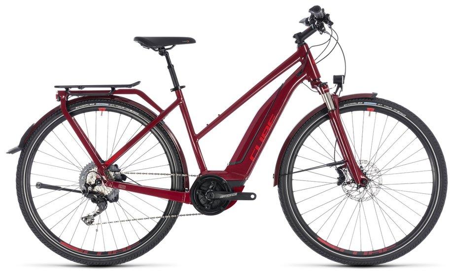 cube touring hybrid exc 500 e bike rot modell 2018 test. Black Bedroom Furniture Sets. Home Design Ideas
