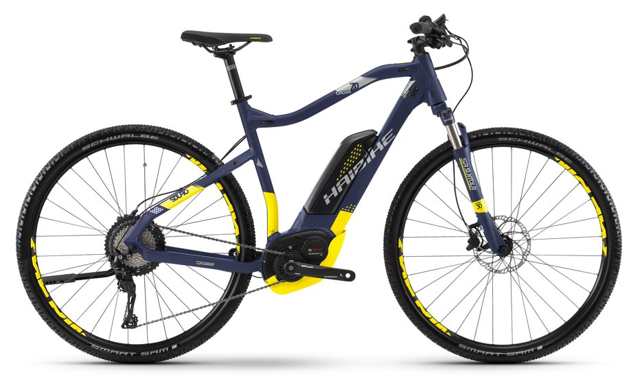 haibike sduro cross 7 0 e bike blau modell 2018 test e. Black Bedroom Furniture Sets. Home Design Ideas