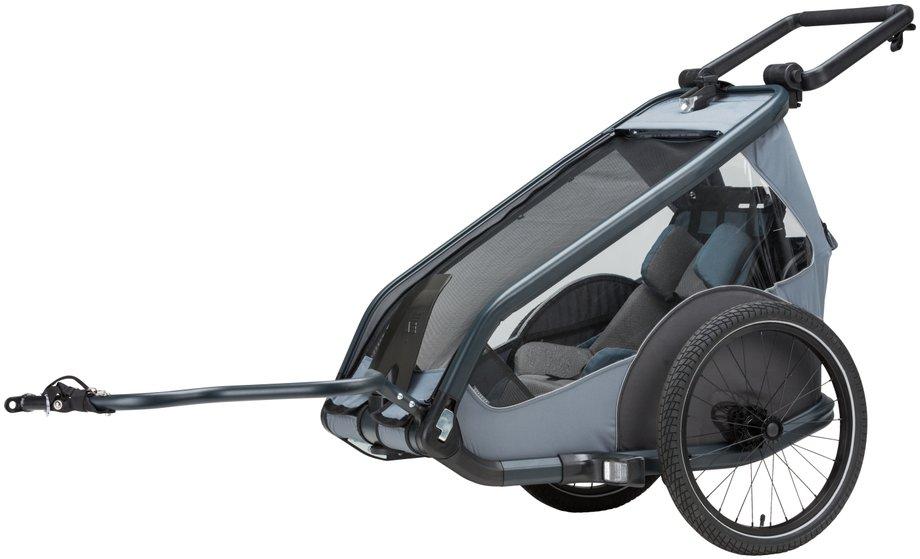 Kettler Quadriga Kinderanhänger Einsitzer Fahrradanhänger Grau Modell 2019