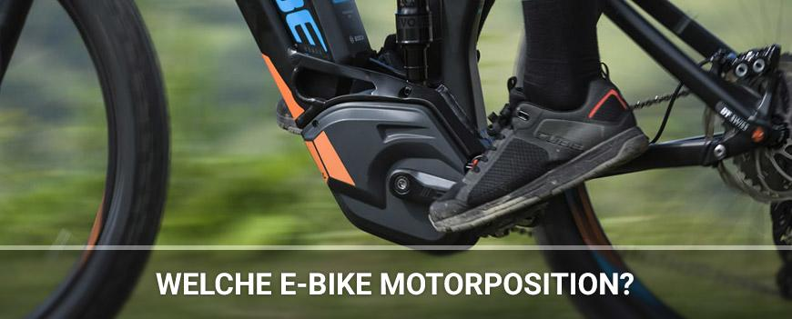 Welche E-Bike Motorposition
